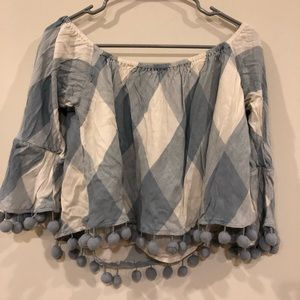 Tularosa cute blouse with Pom Pom details